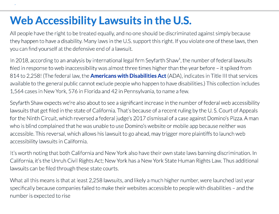 The Americans with Disabilities Act (ADA) became law in 1990. The ADA is a civil rights law that prohibits discrimination against individuals with disabilities in all areas of public life, including jobs, schools, transportation, and all public and private places that are open to the general public.